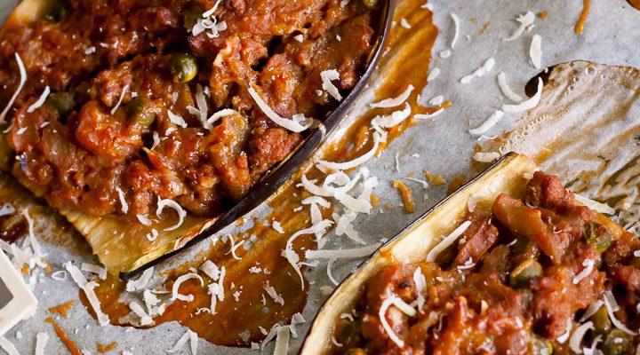 Barchette di melanzana low-carb: una ricetta universitaria