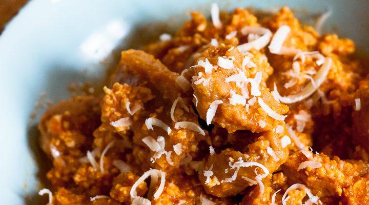Gnocchi al cucchiaio zucca e farina di castagne