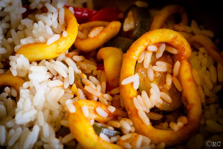 Chilli con Pesce o Goan squid chilly