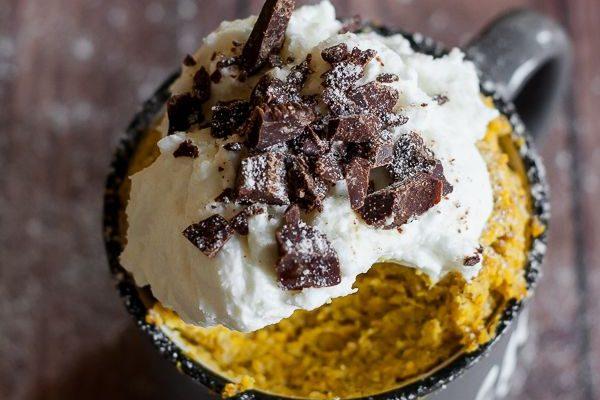 Pumpkin mug cake al vapore