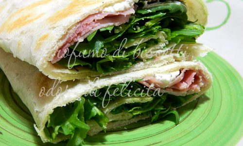 Piadina arrotolata – ricetta leggera