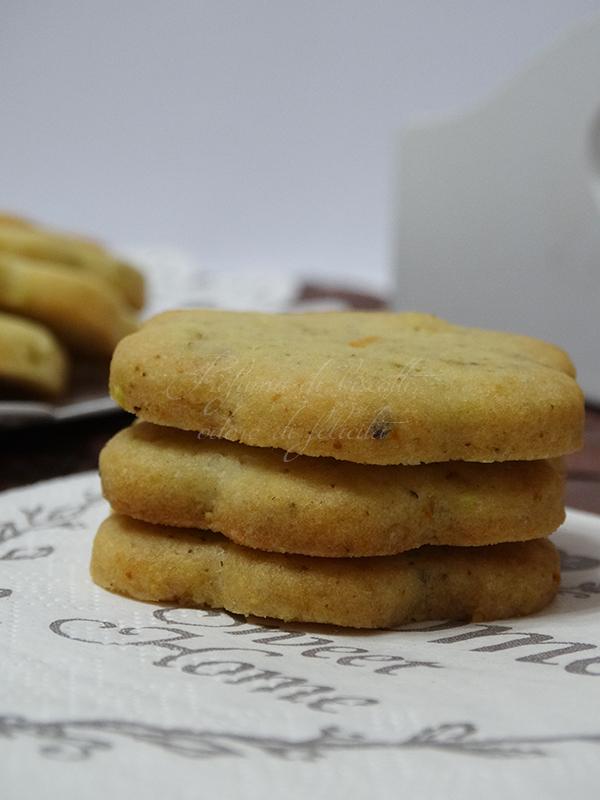 biscotti arancia e pistacchio