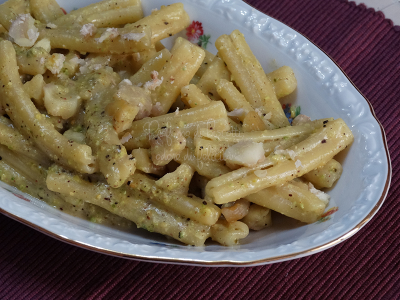 Pasta pistacchio e castagne