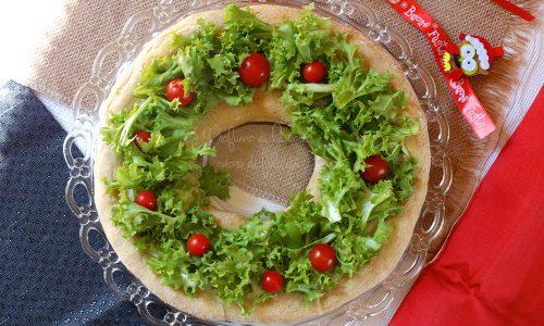 Focaccia natalizia - Ghirlanda di pane