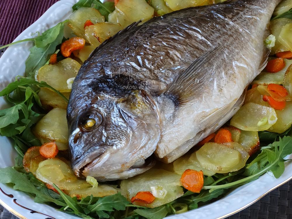 Orata Al Forno Con Le Verdure Secondo Di Pesce