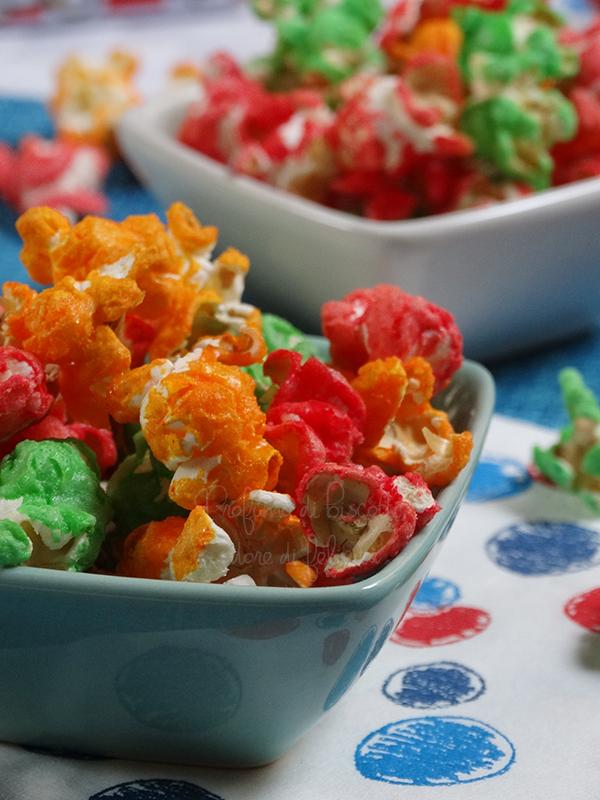 pop corn dolci colorati