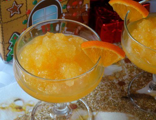 Sorbetto al mandarino senza uova