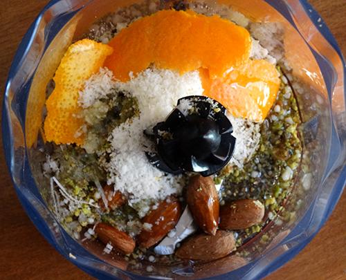 pesto pistacchi e arancia