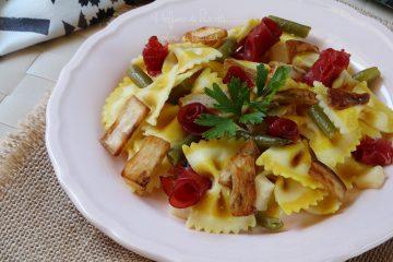 insalata di pasta al limone con fagiolini