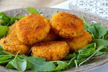 polpette di polenta con verdure