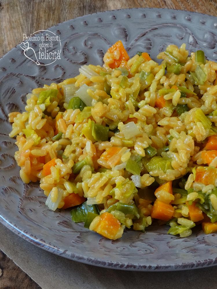 riso freddo alla curcuma con verdure