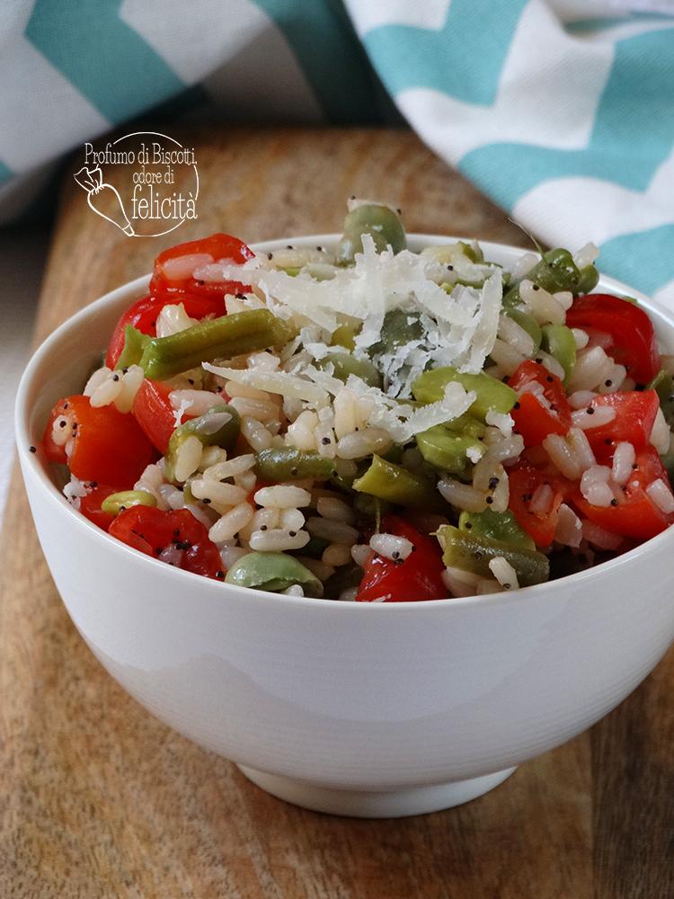 insalata di riso ai fagiolini