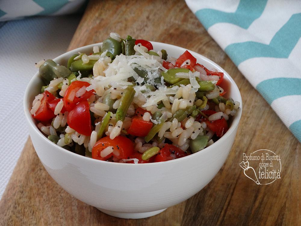 insalata di riso con fagiolini