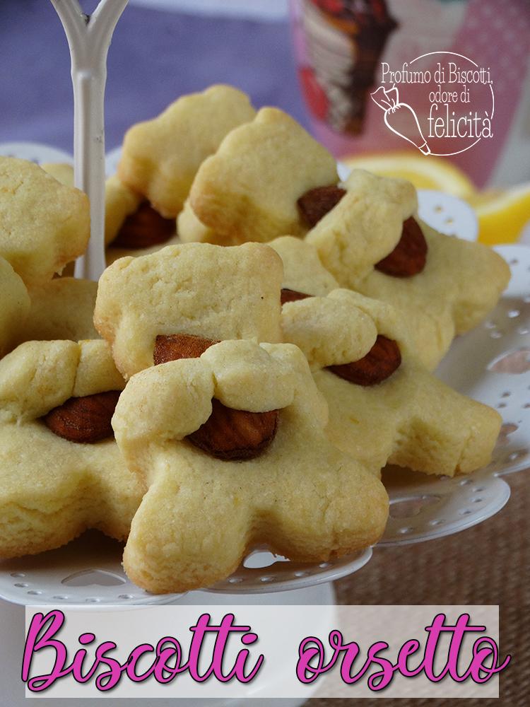 biscotti orsetto agli agrumi e mandorle