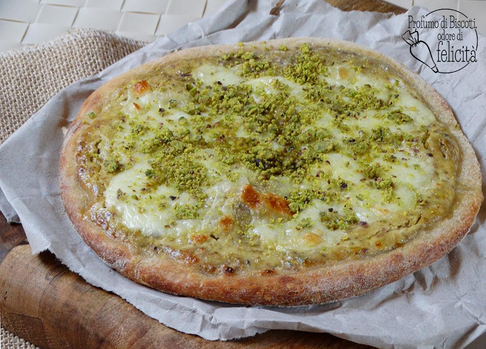 pizza al pistacchio di Bronte la ricetta