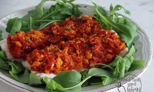 Pesce spatola gratinato con pomodori secchi