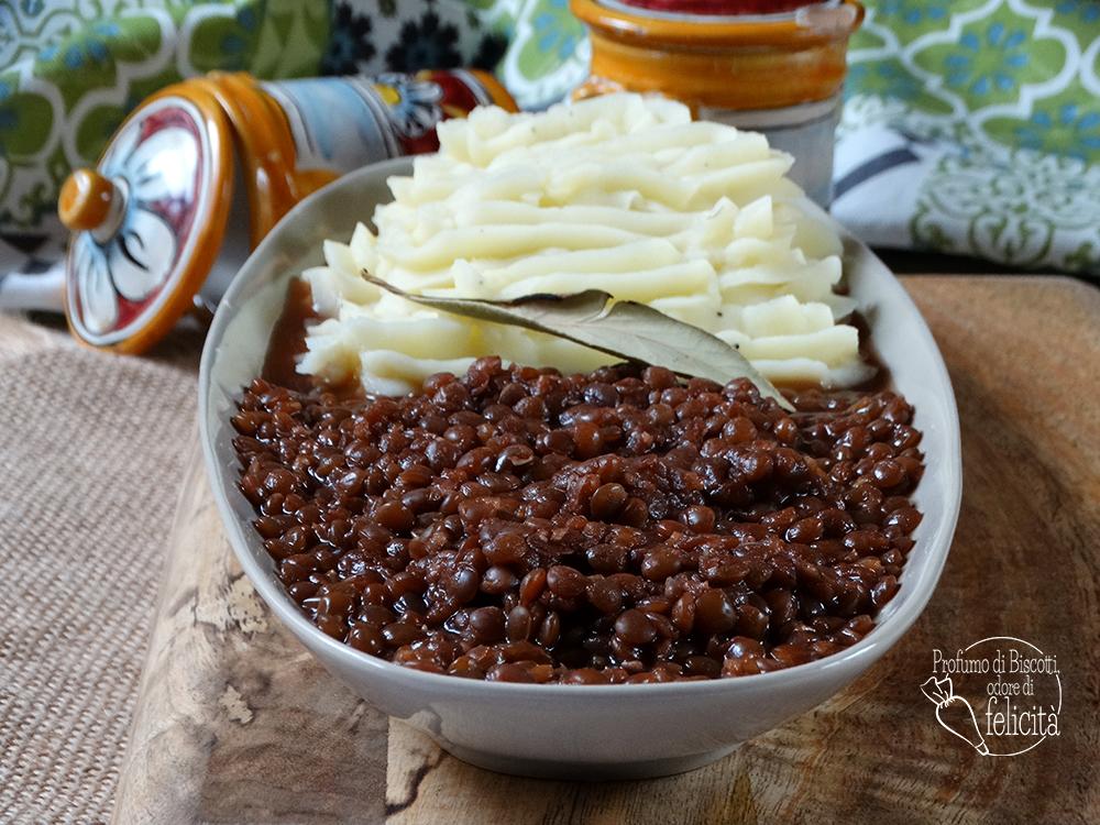 lenticchie e purè di patate cremoso
