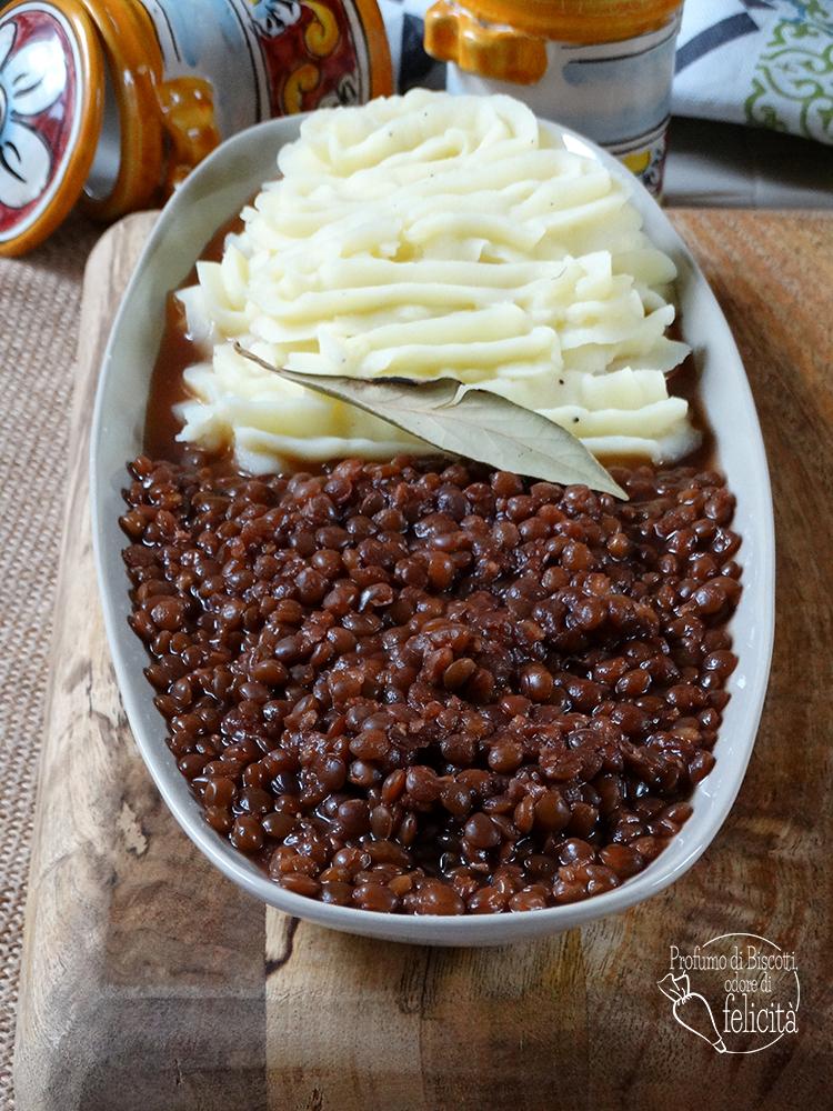 lenticchie e purè di patate