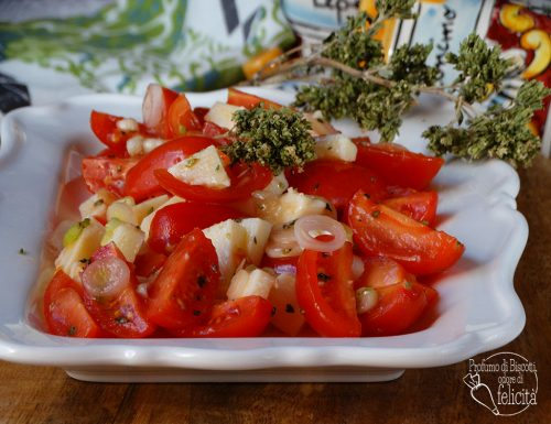 Insalata di pomodorini e cipollotti