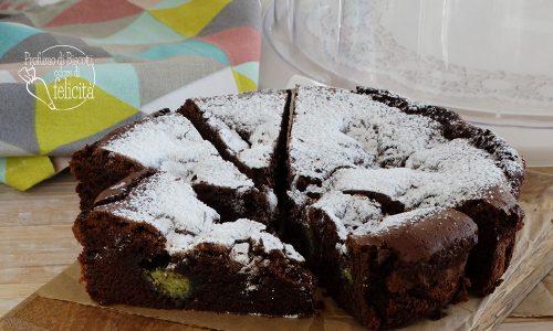 Torta cioccolatino con crema al pistacchio