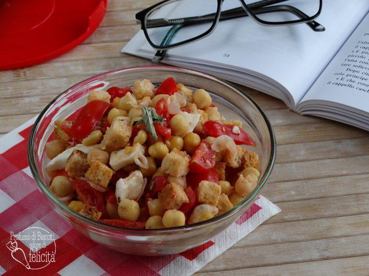 ceci in insalata con pomodorini