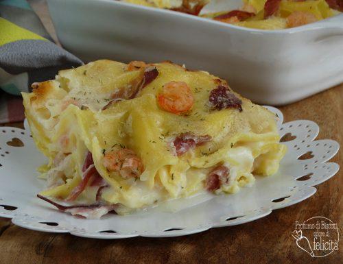Lasagne con gamberetti e speck