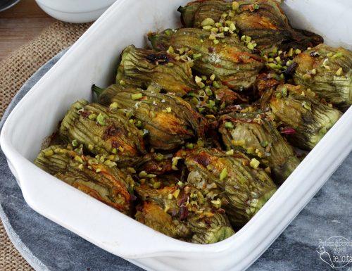Fiori di zucca ripieni al pistacchio