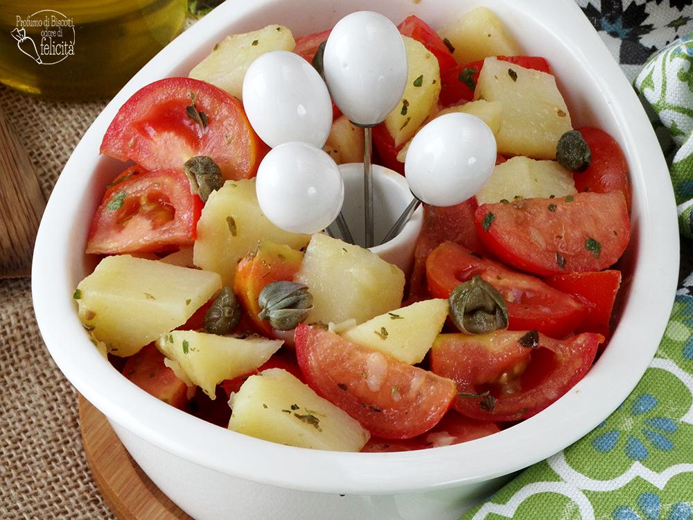 insalata di pomodoro e patate semplice