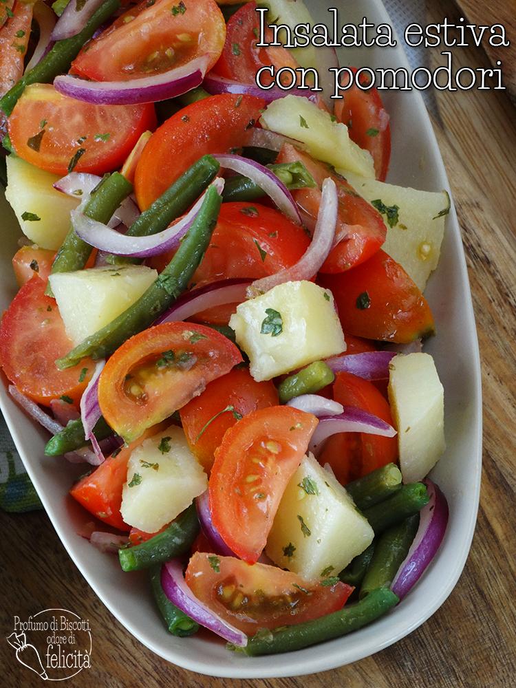 insalata estiva con pomodori  e fagiolini