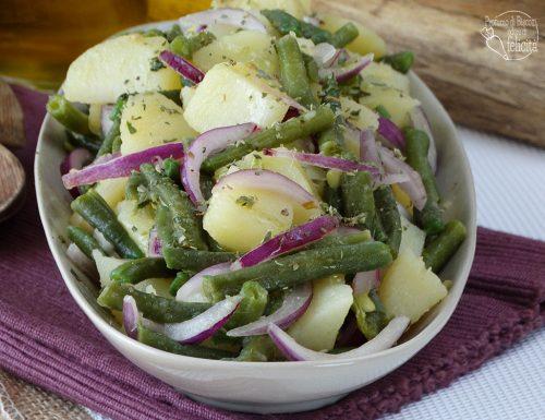 Insalata patate, cipolla e fagiolini