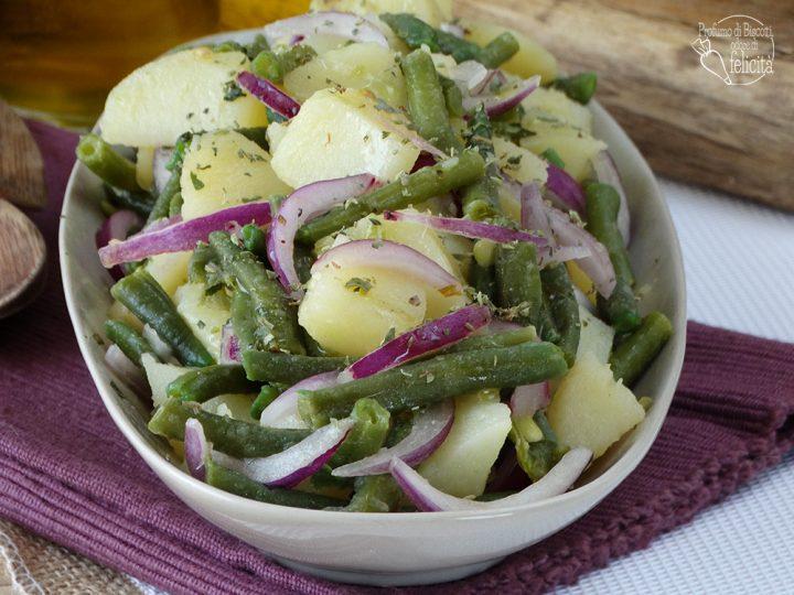 insalata patate cipolla e fagiolini