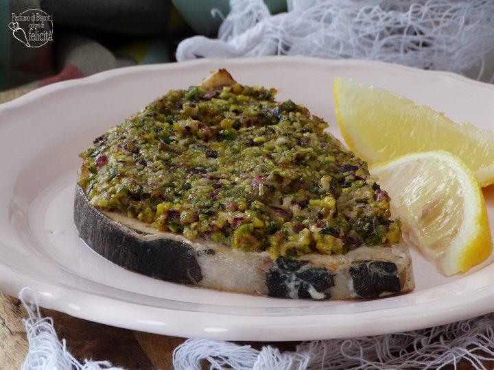 pesce spada al pistacchio al forno o in padella