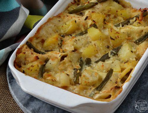 Lasagne con patate e fagiolini