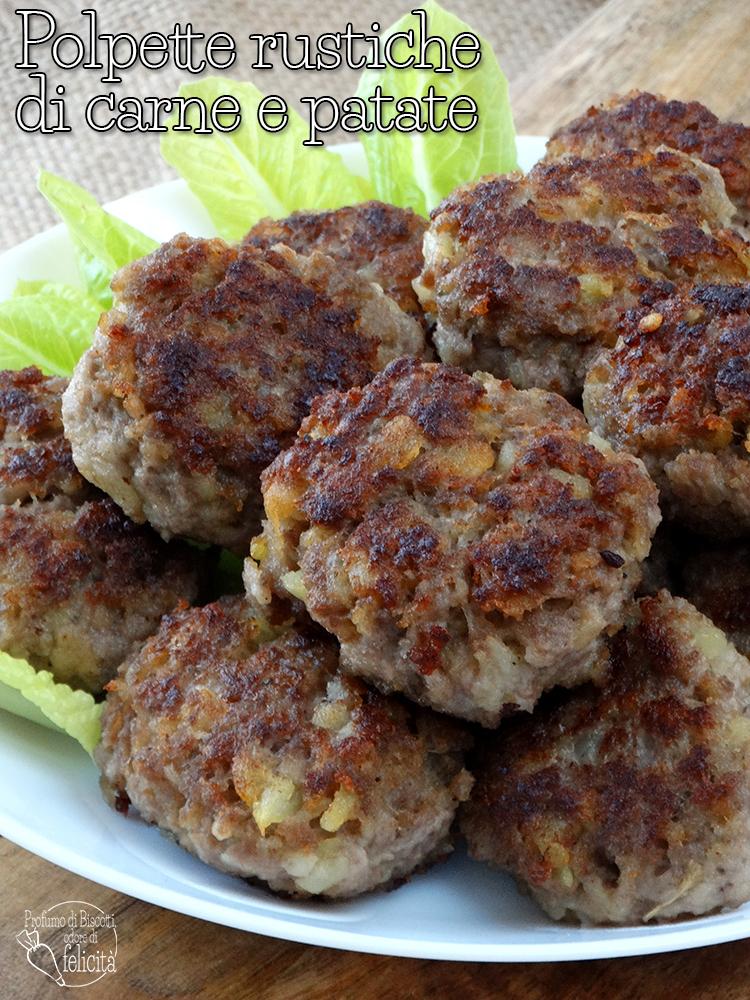 polpette rustiche di carne e patate