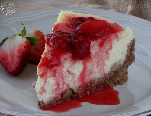 Cheesecake di ricotta alle fragole