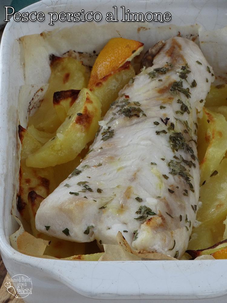 pesce persico al limone in forno