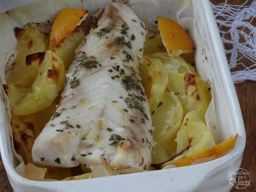 pesce persico al limone cotto in forno