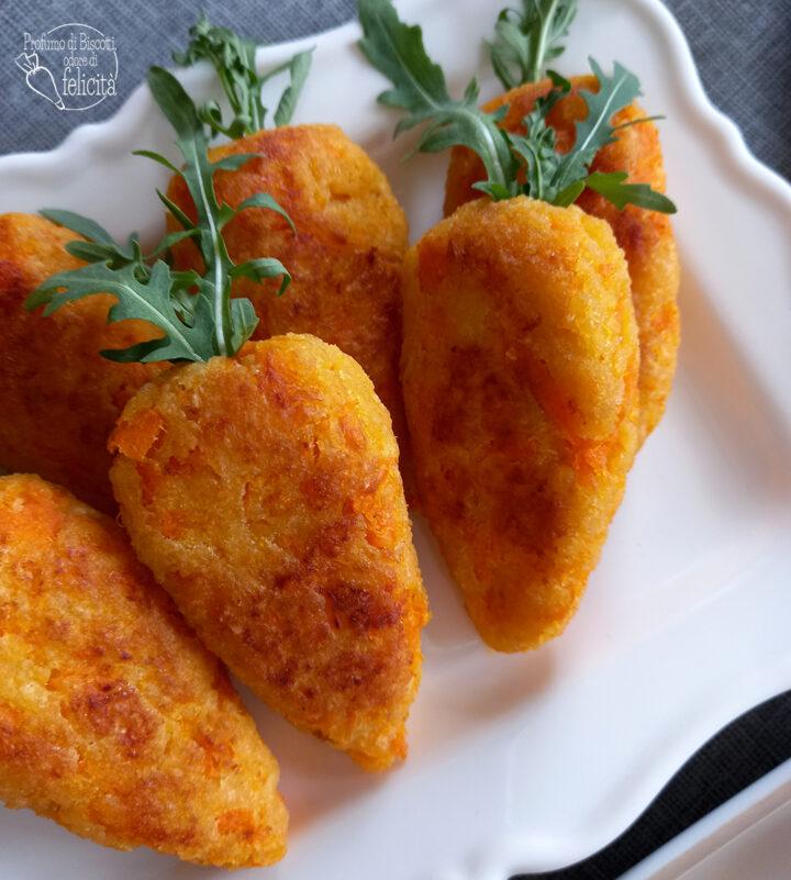 polpette di carote a forma di carota