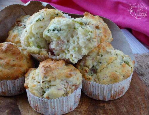 Muffin salati alla ricotta