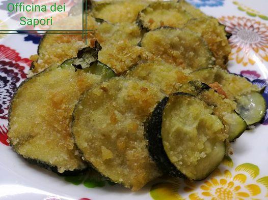 Zucchine gratinate con erbette