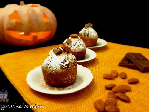 Muffin alla zucca con mandorle e cioccolato