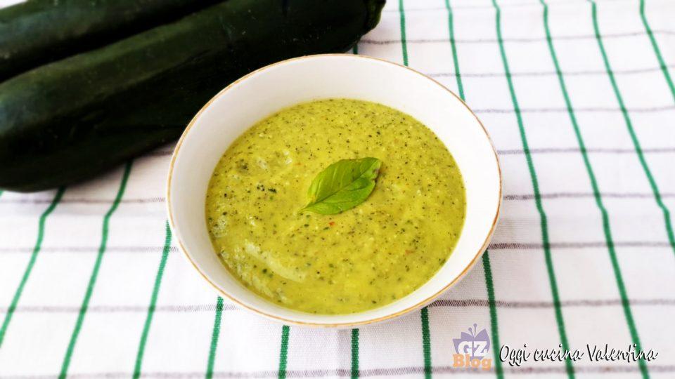 Pesto di zucchine leggero e cremoso