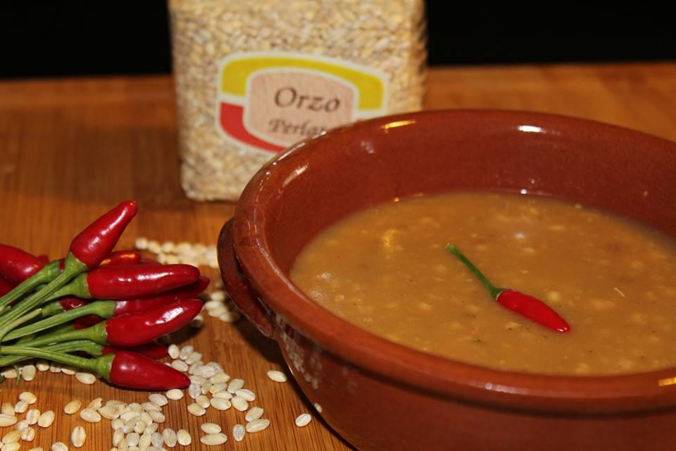 Zuppa d'Orzo perlato e Porcini