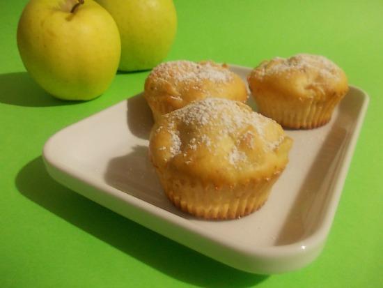 muffins con mele e ricotta