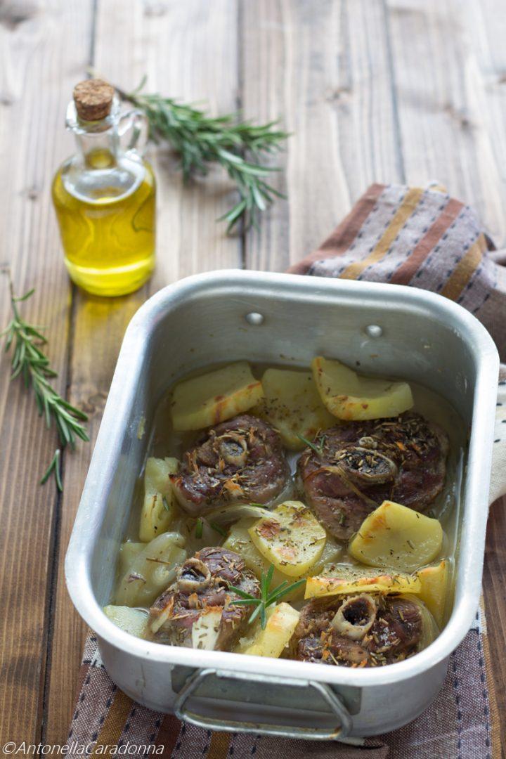 ossobuco di tacchino al forno con patate