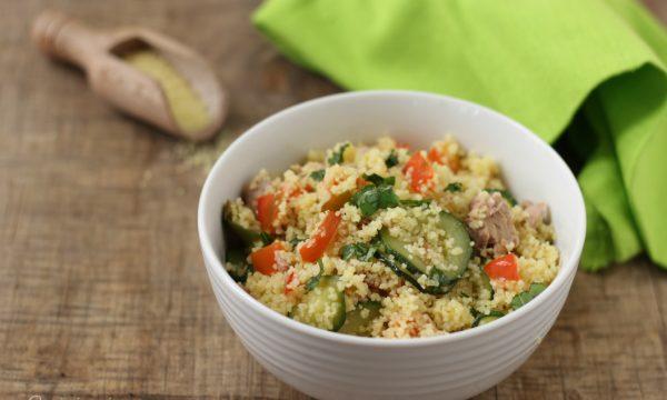 Cous cous con verdure e tonno