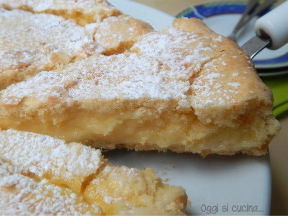 Torta della nonna con crema all'arancia-Oggisicucina