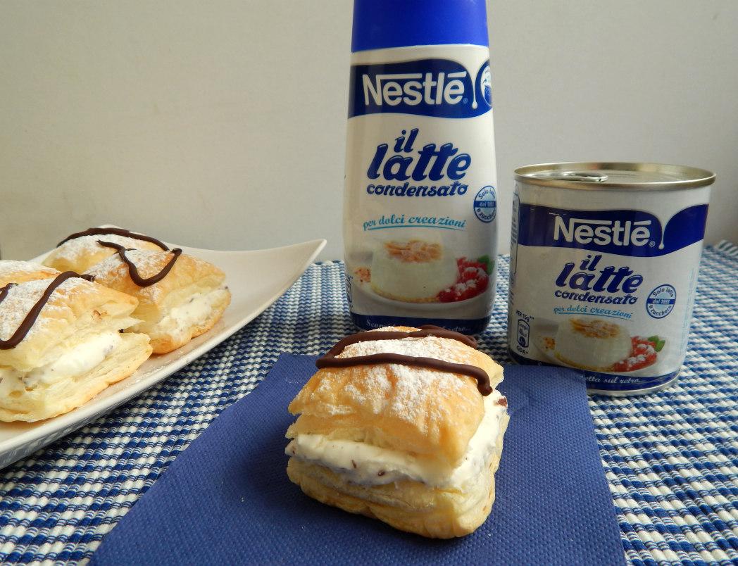 Top Sfogliatine con crema al latte condensato e scaglie di cioccolato FI23