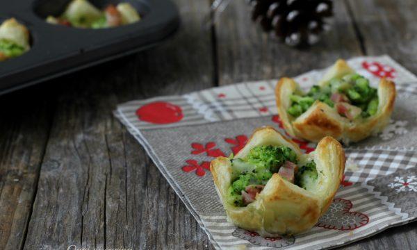 Cestini broccoli e pancetta