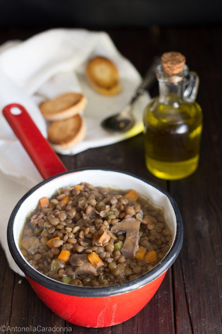 Ricetta Lenticchie E Funghi.Zuppa Di Lenticchie E Funghi Oggi Si Cucina
